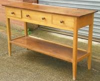 Cotswold Influenced Three Drawer Dresser Base Sideboard
